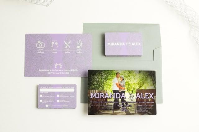 Wedding Invitations With Program
