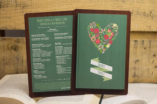 Book Themed Wedding Program