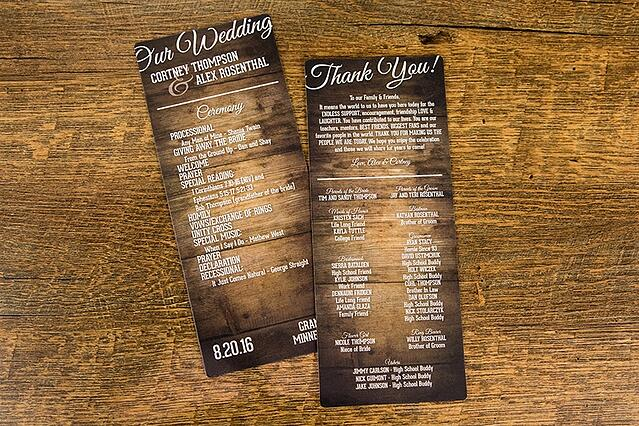 10 Wedding Programs Your Guests Will Want To Keep