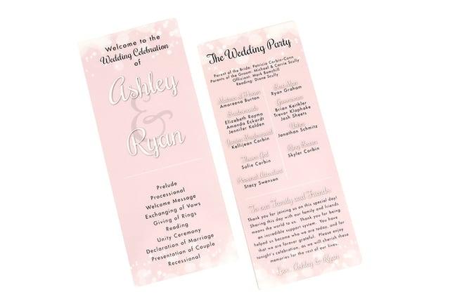 Pink Blush Wedding Program