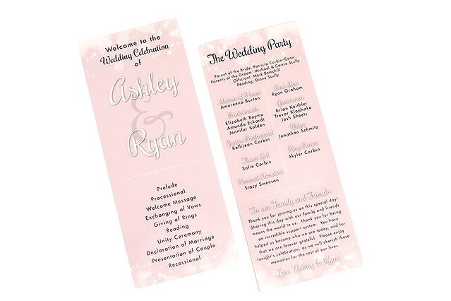 Pink Blush Wedding Program