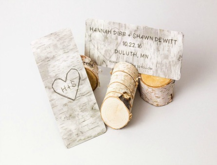 Unique Rustic Save the Date Cards