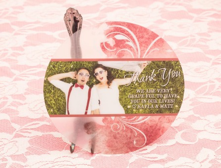 Unique Custom Plastic Wedding Thank You Card by Plastic Printers