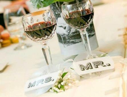 Custom Wedding Party Coasters by Plastic Printers