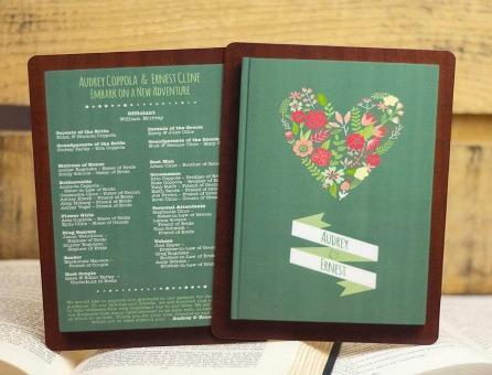 Unique Custom Wedding Programs by PlasticPrinters.com